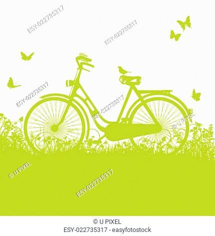 Fahrrad im Gras