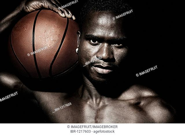 Basketball player, portrait