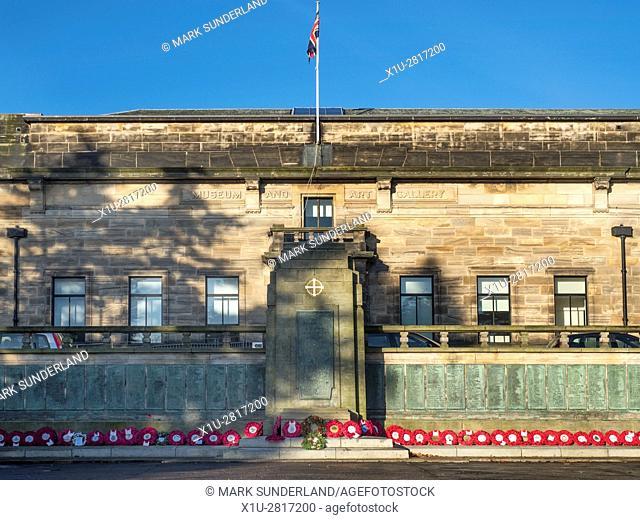 Museum and Art Gallery and War Memorial at Kirkcaldy Fife Scotland