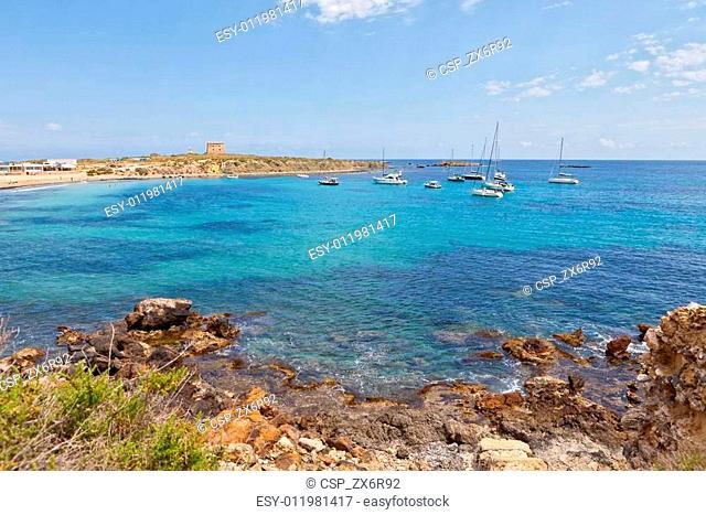 Coastline in Tabarca, Alicante, Spain