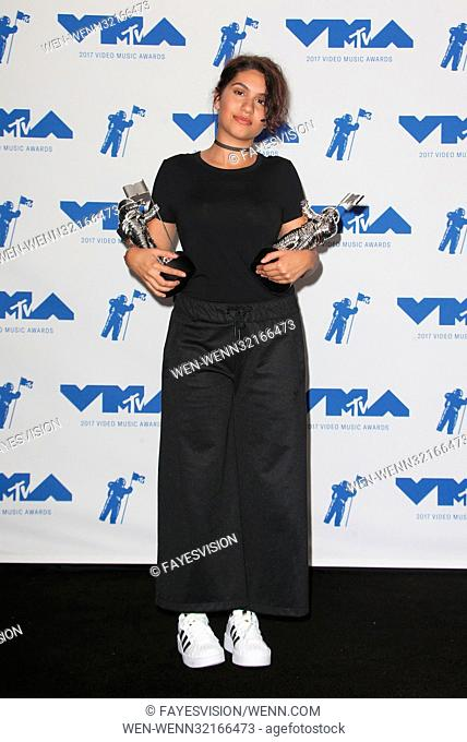 MTV Video Music Awards (VMA) 2017 Press Room, held at the Forum in Inglewood, California. Featuring: Alessia Cara Where: Inglewood, California