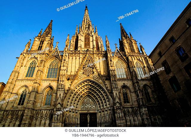 The Cathedral of Barcelona, Spain