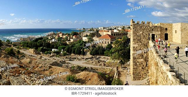 Historic Crusader castle in the archeological site of Byblos, Unesco World Heritage Site, Jbail, Lebanon, Middle East, West Asia