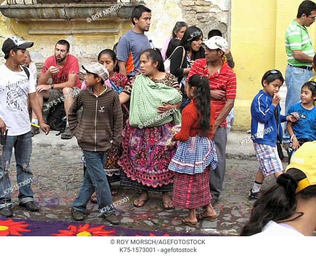 Group of indigenous people visit Antigua for Easter week
