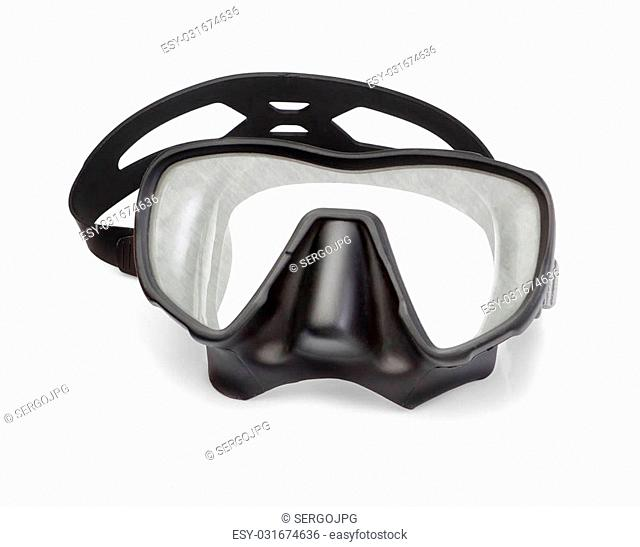 Mask for snorkeling and diving. On a white background