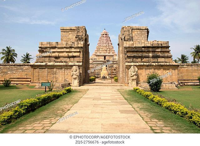 Entrance, Brihadisvara Temple, Gangaikondacholapuram, Tamil Nadu, India. View from East