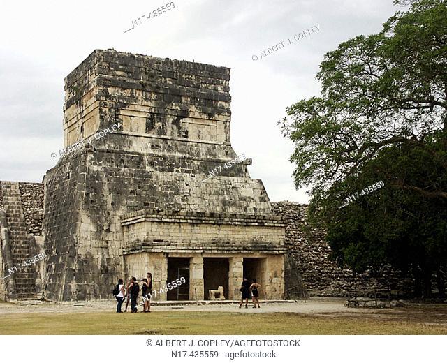 Temple of the Jaguar, Mayan ruins of Chichen Itza. Yucatan, Mexico