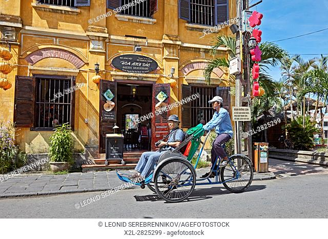 Street scene in Hoi An Ancient Town. Quang Nam Province, Vietnam