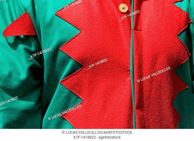 Detail  Costume of `maça' macero-mace-bearer `Patum de Lluiment' Patum de lucimiento-showcasing Patum Plaça de Sant Pere  La Patum Masterpiece of Oral and...