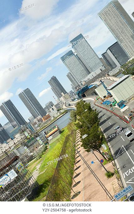District of Odaiba, an artificial island in Tokyo, Japan