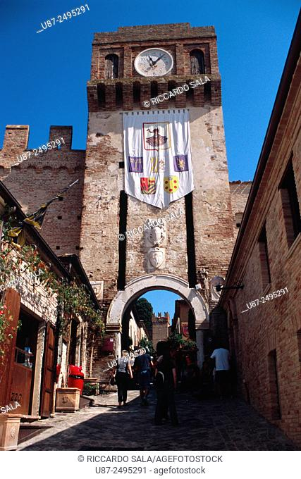 Italy, Marche, Gradara, Castle