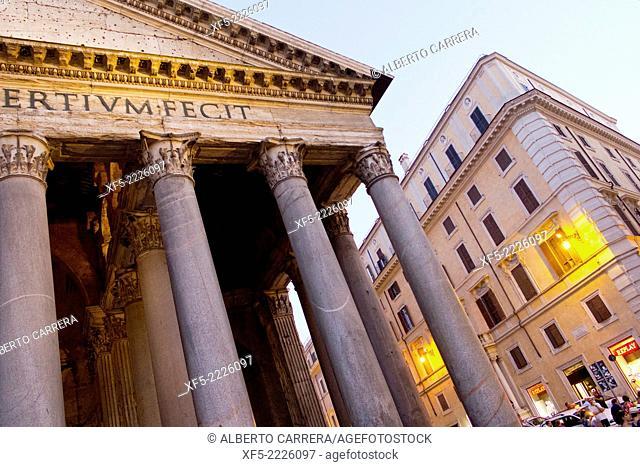 Agrippa's Pantheon, Piazza della Rotonda, Santa María Rotonda, Rome, Lazio, Italy, Europe