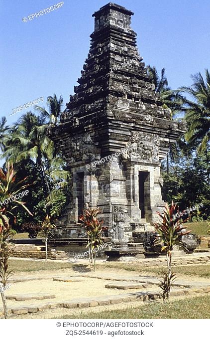 Java- Panataran, dated temple, 1369 A. D. General-View from North-West
