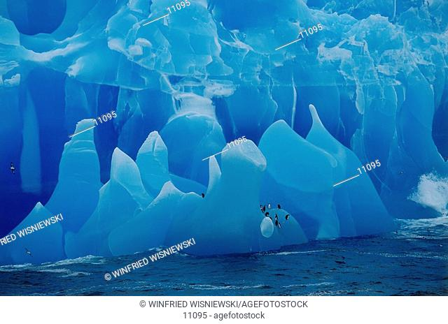 Blue iceberg in the Weddell Sea, Antarctica