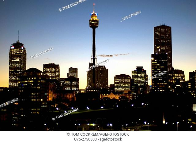 City skyline from Darlinghurst, Sydney, Australia