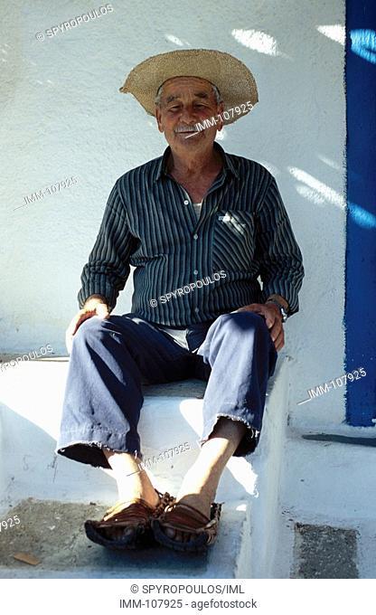 Cyclades, Ios Ios town, old local man