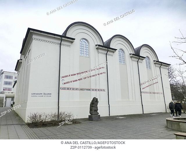 Reykjavik, the capital city of Iceland on March 19, 2018. Fríkirkjan Church
