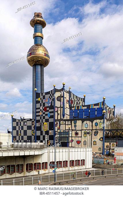 Waste incinerator Spittelau, architect Friedensreich Hundertwasser, Vienna, Austria