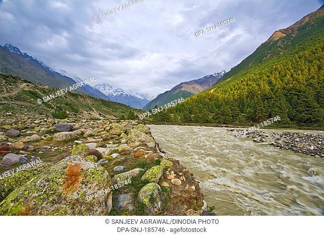 Chitkul Landscape Himachal Pradesh India