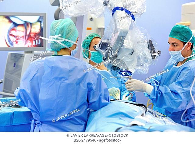 Operating room, Brain operation, Neurosurgery, Hospital Donostia, San Sebastian, Gipuzkoa, Basque Country, Spain