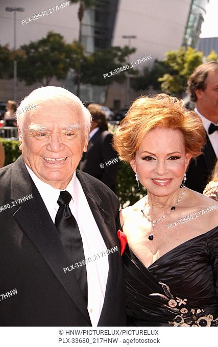 "Ernest Borgnine, Tova Borgnine 09/12/09 """"2009 Primetime Creative Arts Emmy Awards"""" @ Nokia Theatre, Los Angeles Photo by Izumi Hasegawa/HNW / PictureLux File..."