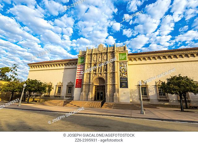 Clouds over the San Diego Museum of Art building. Balboa Park, San Diego, California, United States