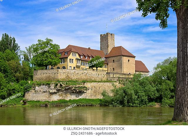 The medieval Grafenburg Castle and nowadays townhall of Lauffen near Heilbronn, Germany