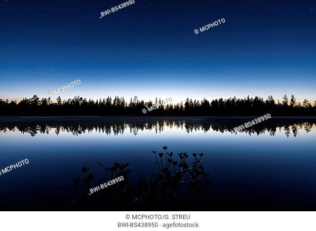 evening mood at a lake, Sweden, Lapland