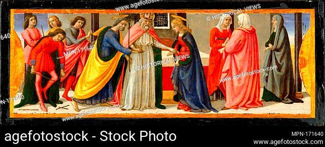 The Marriage of the Virgin. Artist: Davide Ghirlandaio (David Bigordi) (Italian, Florence 1452-1525 Florence); Date: ca. 1479; Medium: Tempera and gold on wood;...