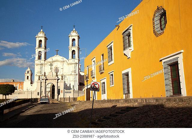 Templo de la Santa Cruz, Santa Cruz of the Spaniards church, Puebla, Puebla State, Mexico, Central America