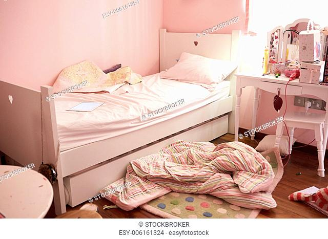 Empty And Untidy Child S Bedroom