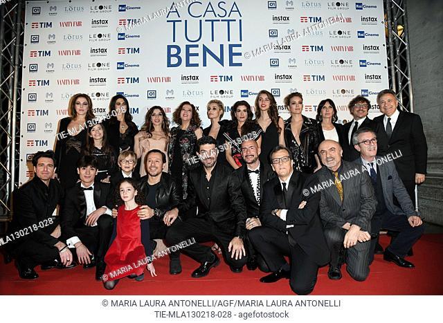 Cast of film : The director Gabriele Muccino ed il cast con Claudia Gerini, Elena Rapisarda, Valeria Solarino, Sabrina Impacciatore, Stefania Sandrelli