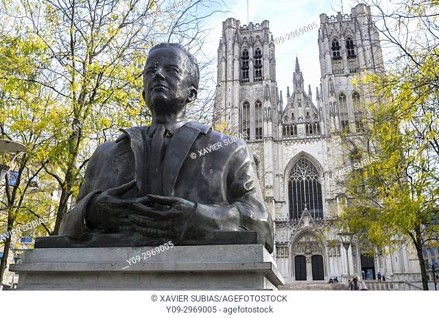 St. Michael and Gudula Cathedral, Place Sainte-Gudule, Brussels, Belgium