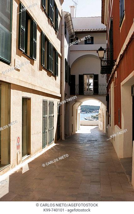 Streets, Mao. Minorca, Balearic Islands, Spain