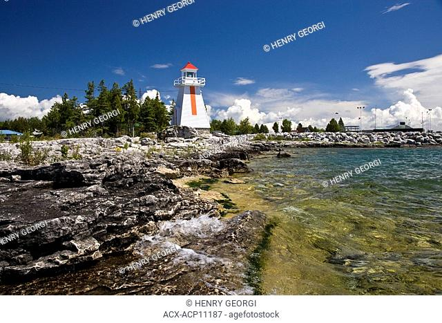 Lighthouse at South Baymouth, Manitoulin Island, Ontario, Canada
