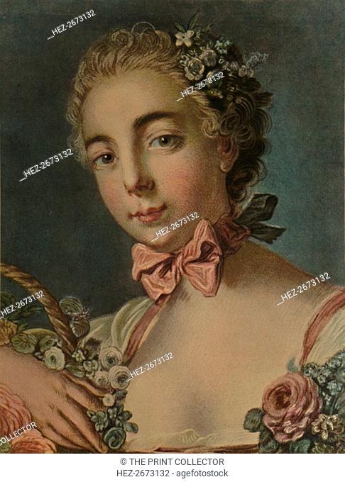 'La Tete De Flore (Madame Deshayes)', 1769, (1913). Artist: Louis Marin Bonnet