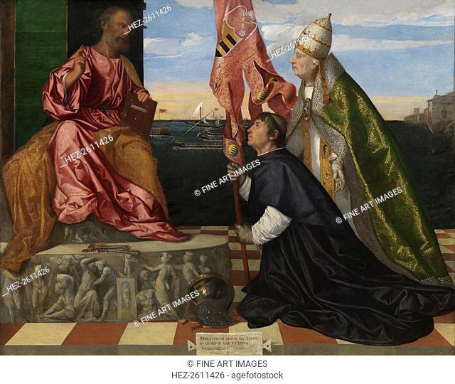 Jacopo Pesaro being presented by Pope Alexander VI to Saint Peter, 1506-1511. Artist: Titian (1488-1576)