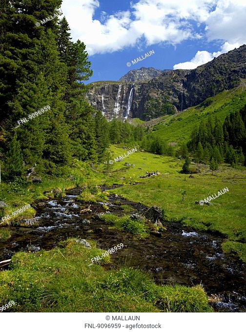 Renk Falls, Oetztal Alps, Tyrol, Austria
