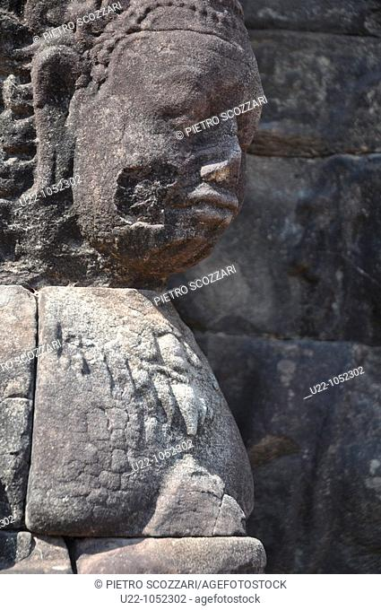 Angkor (Cambodia): statue on the Terrace of the Leper King