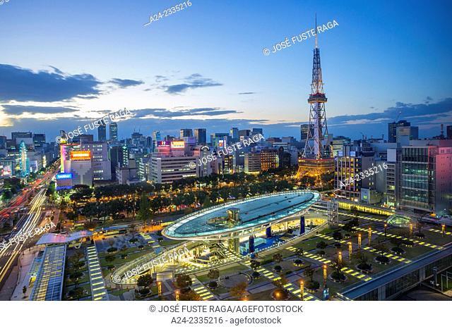 Japan , Nagoya City, Oasis 21 Bldg. and square , Nagoya TV Tower