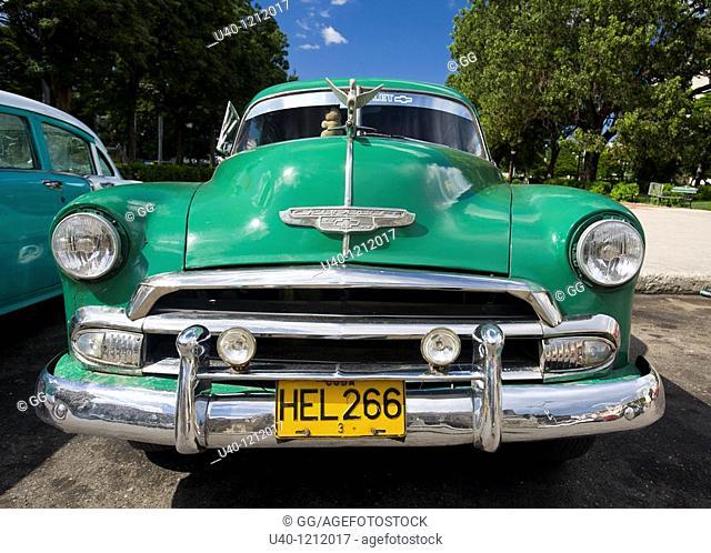 Cuba, Havana, Antique car