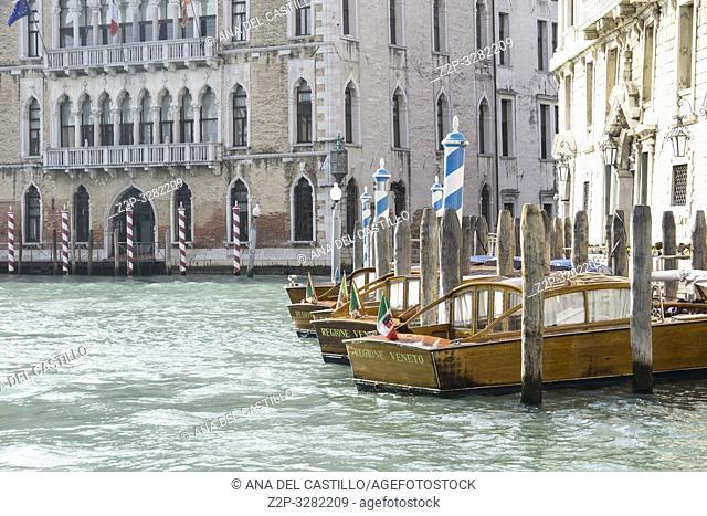 Venice Veneto Italy on January 21, 2019: Grand Canal