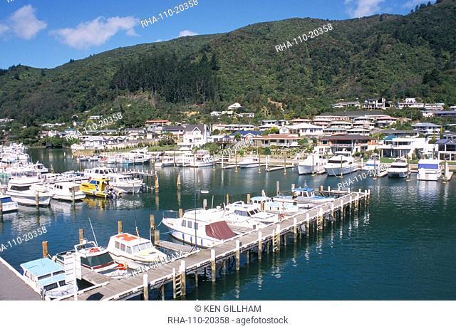 Marina, Picton, Marlborough, South Island, New Zealand, Pacific