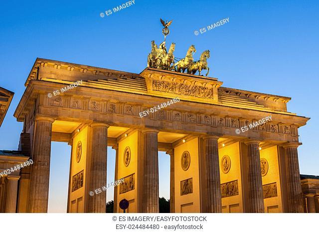 Berlin's Brandenburg Gate at twilight