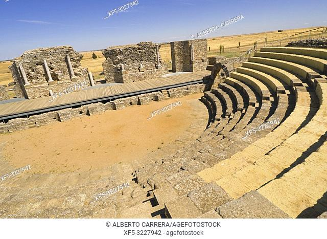 Roman Theatre, Roman City of Regina Turdulorum, Good of Cultural Interest, Casas de la Reina, Badajoz, Extremadura, Spain, Europe