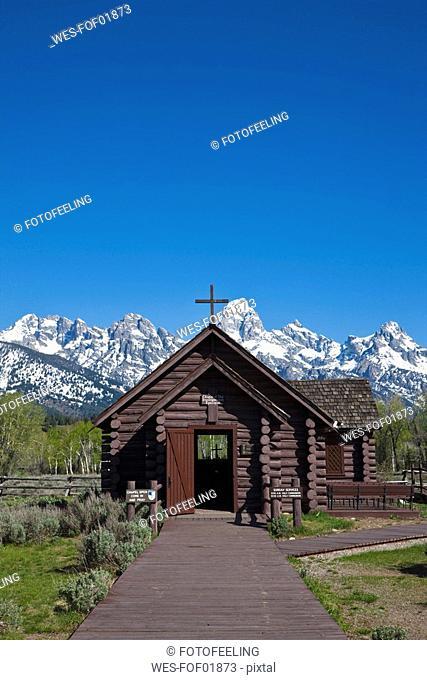 USA, Wyoming, Grand Teton National Park, Jackson Hole, Chapel of the Transfiguration