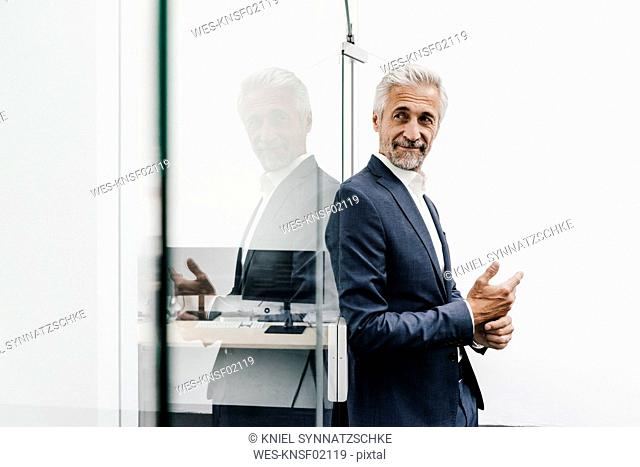 Confident mature businessman in office
