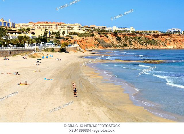 Aguamarina Beach at Dehesa de Campoamor, Orihuela, Alicante province, Spain
