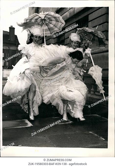 Mar. 03, 1958 - Latin Quarter Showgirl Weds: 21-year old showgirl at Latin quarter, the Wardour-street night spot - Kim Leopod