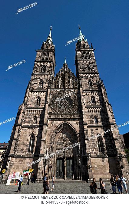 St. Lorenz, Gothic church, 1477, Nuremberg, Middle Franconia, Bavaria, Germany